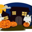 Royalty-Free Stock Vektorfiler: Halloween and ghosts