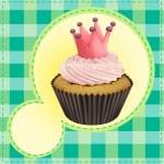 Cupcake and a wallpaper — Stock Vector #15173615