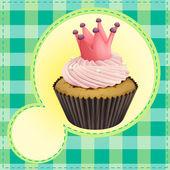 Cupcake and a wallpaper — Stock Vector