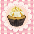 Cupcake and a wallpaper — Stock Vector