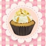 Cupcake and a wallpaper — Stock Vector #15428631