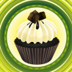 Cupcake and a wallpaper — Stock Vector #15428741