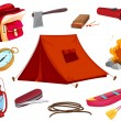 Various objects of camping — Stock Vector #15428861