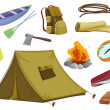Various objects of camping — Stock Vector #15428873