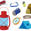 Various objects of camping — Stock Vector #15428903