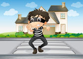 A boy and a house — Stock Vector
