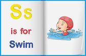Swimming child — Stock Vector