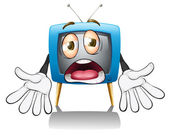 A television with face — Stock Vector