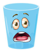 A glass with face — Stock Vector