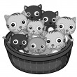 Royalty-Free Stock Vector Image: Kittens