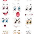 Royalty-Free Stock Vector Image: Faces