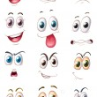 Royalty-Free Stock Vectorielle: Faces