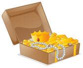 A treasure box — Stock Vector