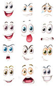 面孔 — 图库矢量图片