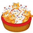 Kittens - Stock Vector