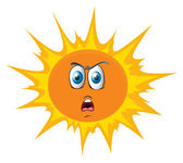 The sun with face — Stock Vector