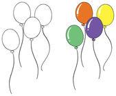 A balloon sketch — Stock Vector