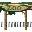 Stock Vector: Zoo entrance