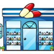 A drug store — Stock Vector