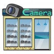 A camera shop — Stockvectorbeeld
