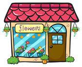 A flower shop — Stock Vector