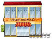 A supermarket — Stock Vector