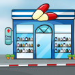 Stock Vector: A drug store