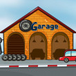 A garage — Stockvectorbeeld