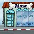 A pet shop - Stock Vector