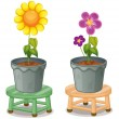 Various potted plants — Stock Vector #17588645