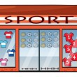 A sports shop - Stock Vector