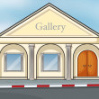 A gallery house - Stock Vector