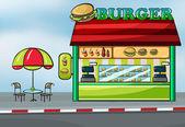 A fast food restaurant — Stock Vector