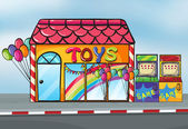 A toy shop — Stock Vector