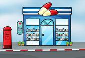 Un negozio di droga — Vettoriale Stock