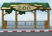 A zoo entrance — Stock Vector