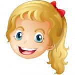 A face of a girl — Stock Vector #17673819