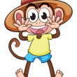 A monkey wearing a hat — Stock Vector