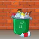 bir çöp kovası — Stok Vektör