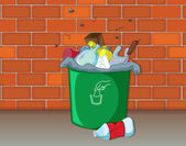 A dustbin — Stock Vector
