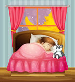 A sleeping girl — Stock Vector