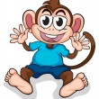 A happy monkey — Stock Vector