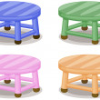 Four stools — Stock Vector