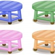 Four stools - Stock Vector