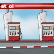Petrol station — Stock Vector