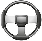 A steering wheel — Stock Vector