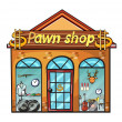 A pawnshop - Stock Vector