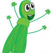 Royalty-Free Stock Vector Image: A smiling grasshopper