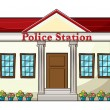 Stock Vector: Police station