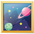 A framed picture of the space - Stock Vector